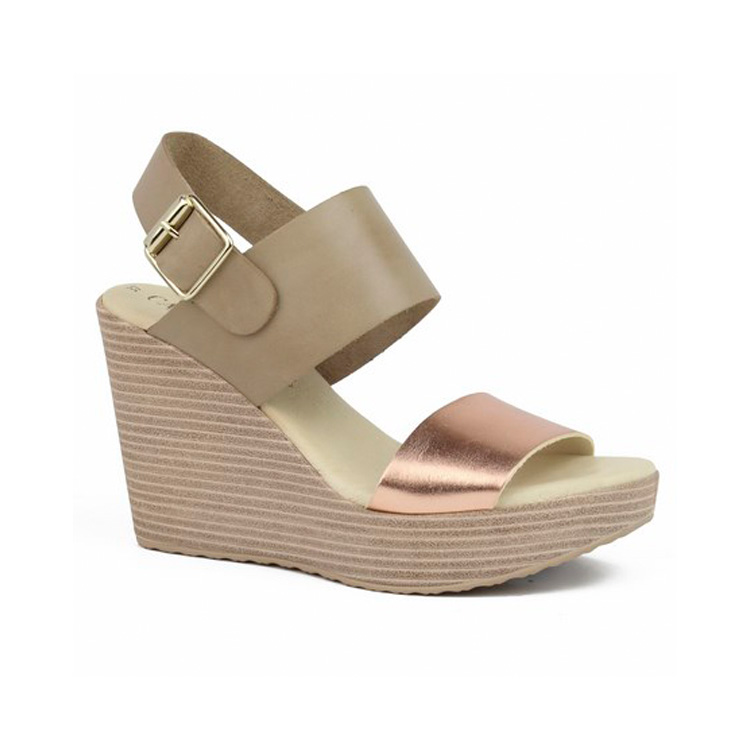 Wide Strappy Wedge by Carmela